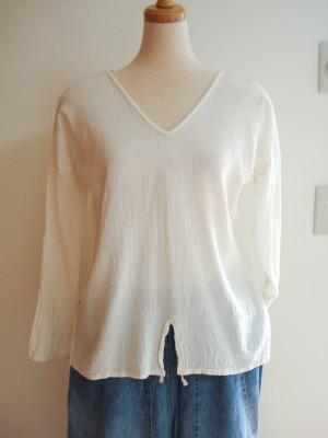 生成りのシャツ 品番 H