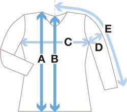 ナチュラルなタイの生成りシャツ サイズ